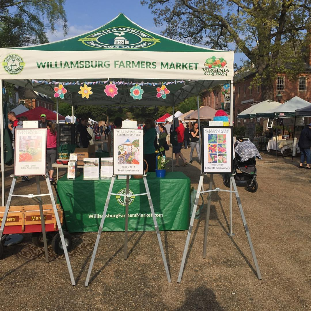 Williamsburg Farmers Market tent