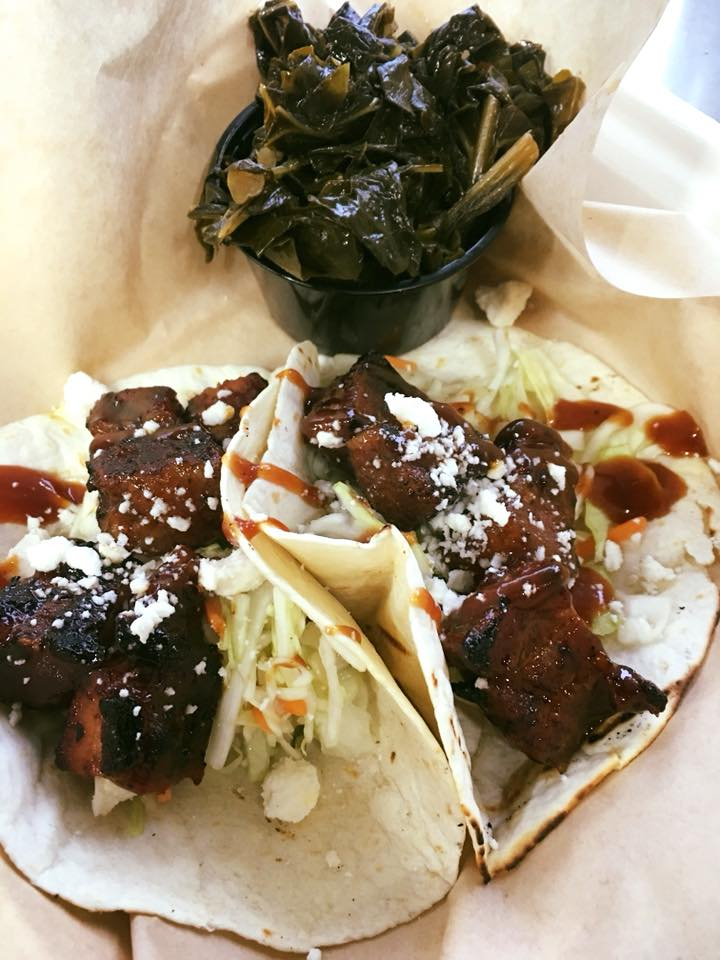 Porkbelly and collards tacos offbeat eats food truck finder williamsburg virginia