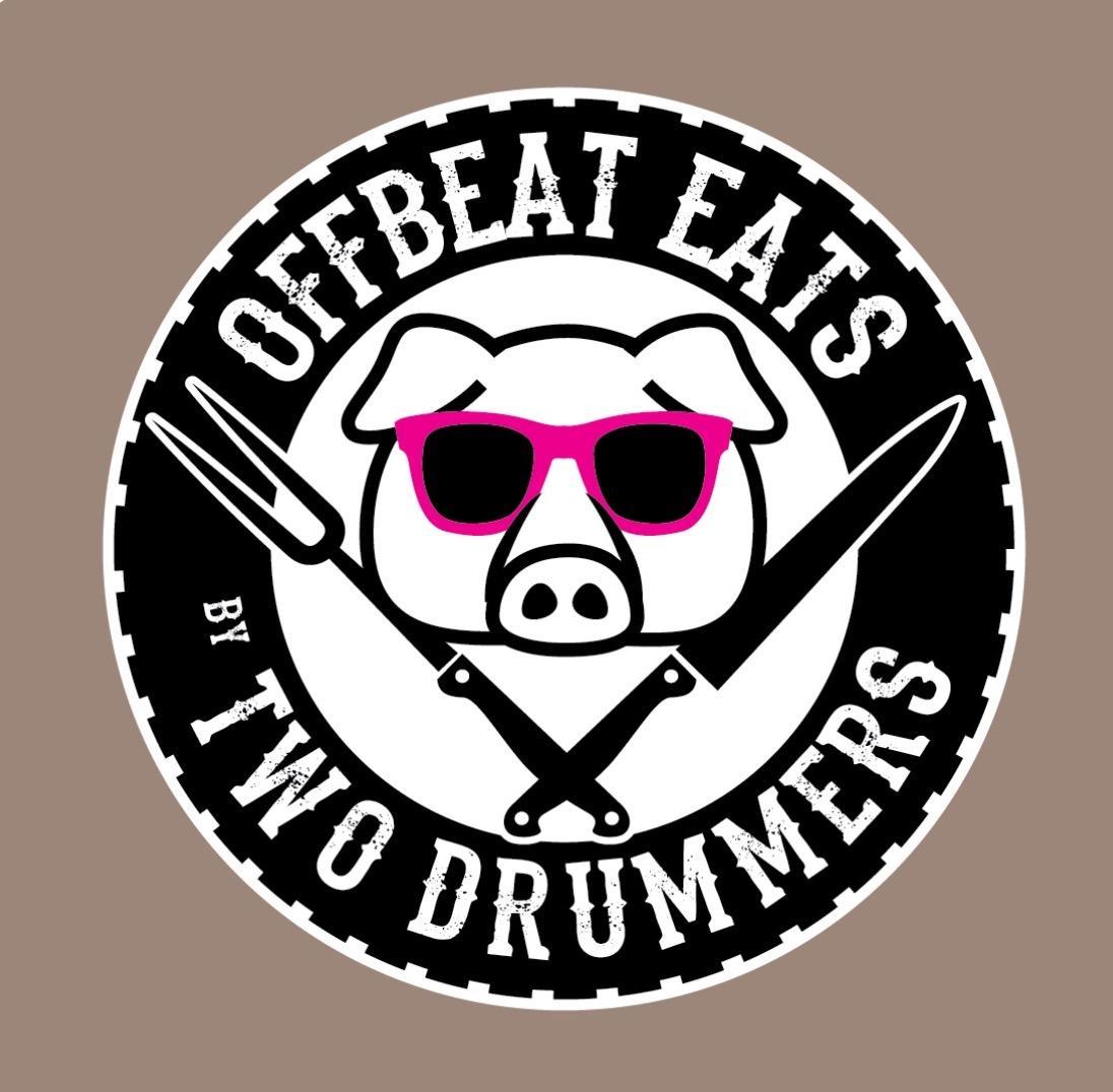 two drummers offbeat eats logo willliamsburg virginia food truck