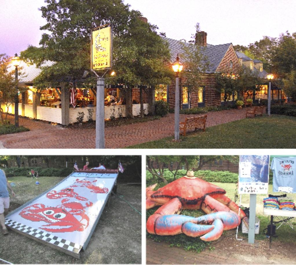 """It's the 29th Annual Crab Races, supporting """"Here for the Girls"""" and the Tom Austin Culinary Scholarship Fund through the Culinary Institute of Virginia. Sponsor a crab, name it and cheer it on to victory on the front lawn at Berret's Taphouse Grill. Bring your own crab, or use one provided at the races! Prizes awarded for fastest crab, cutest crab and best name."""