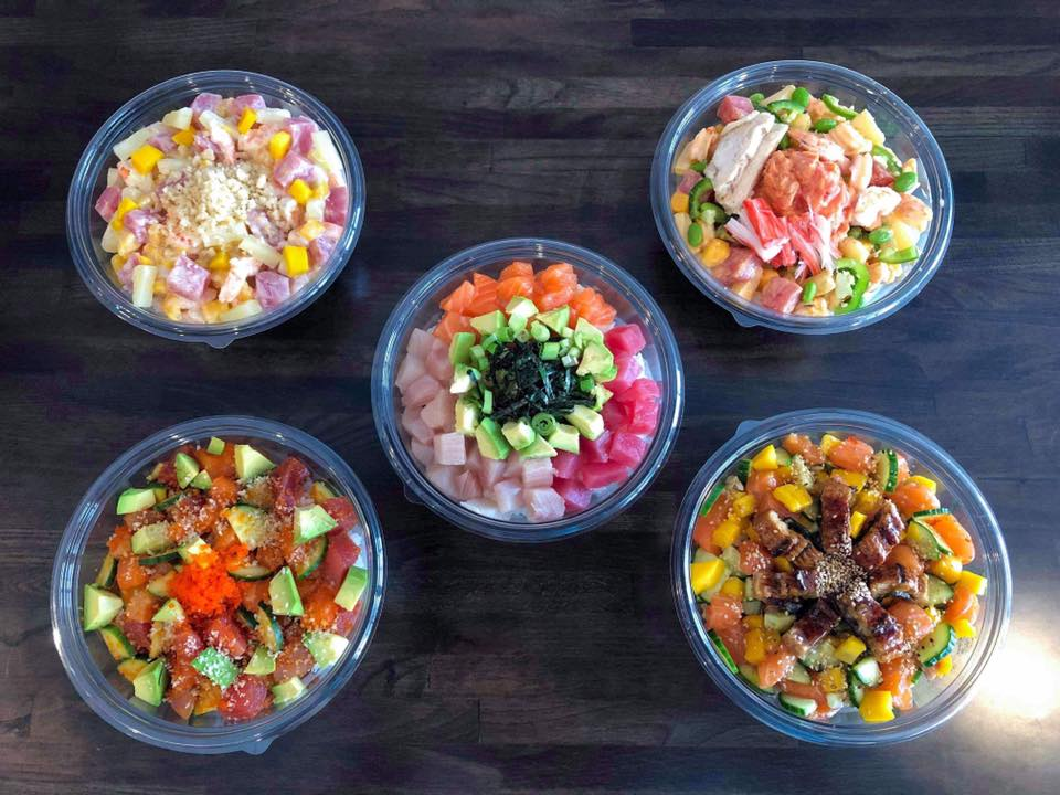 Poke bowls, poke sushi bowl, williamsburg virginia