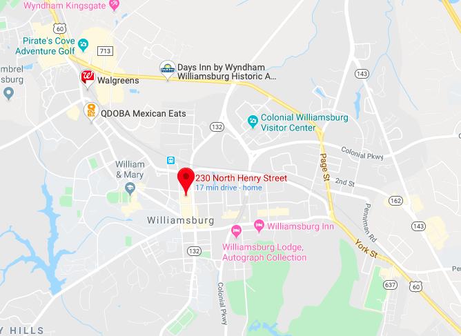 williamsburg virginia parking lot location goodwin square map