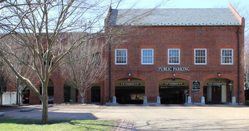 williamsburg virginia public parking prince george garage