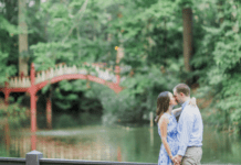 William and Mary Crim Dell Bridge, romantic romance in Williamsburg Virginia for Valentine's Day, Weddings, Date Night, and engagement