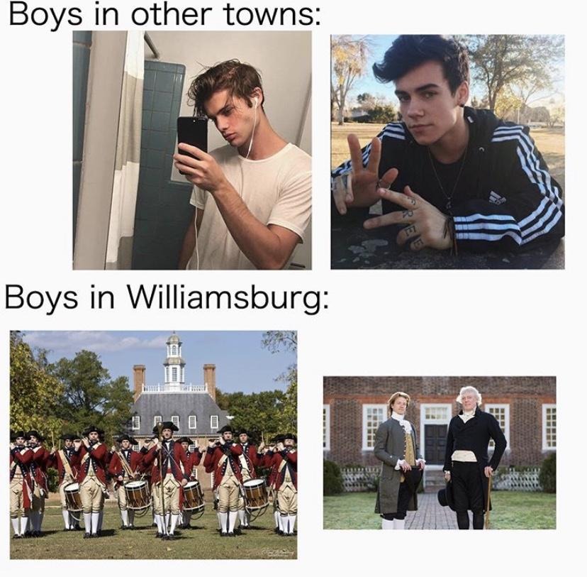 Signs that you grew up in Williamsburg Virginia, you know someone who is a fife or drummer