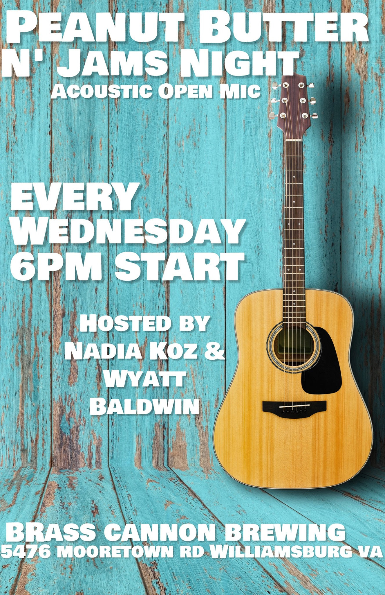 williamsburg virginia live music finder acoustic open mic night brass cannon