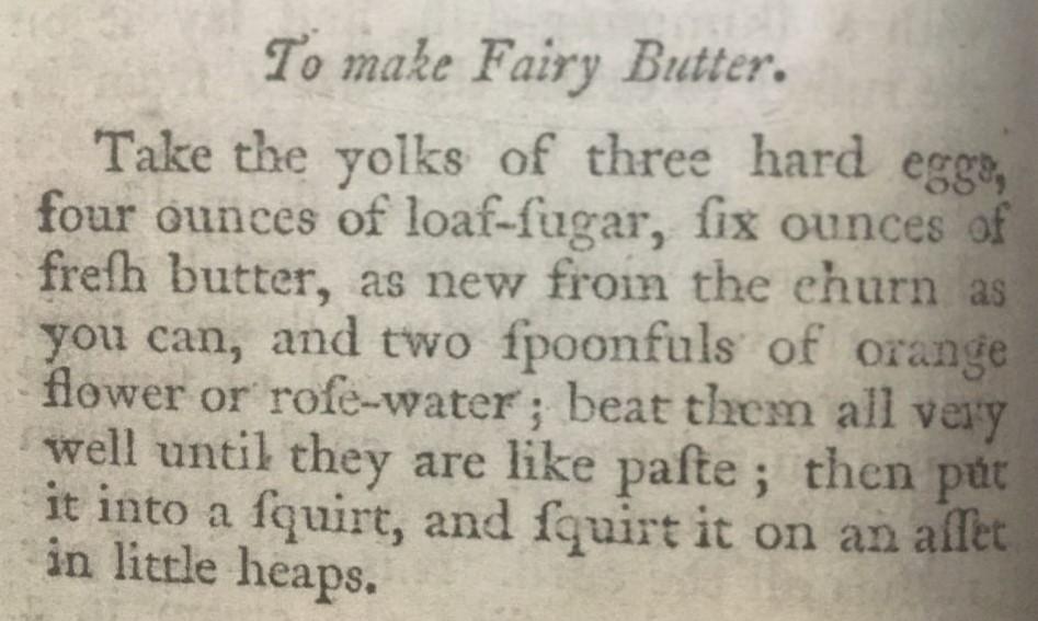 Williamsburg Virginia Colonial Williamsburg Receipes Fairy Butter1